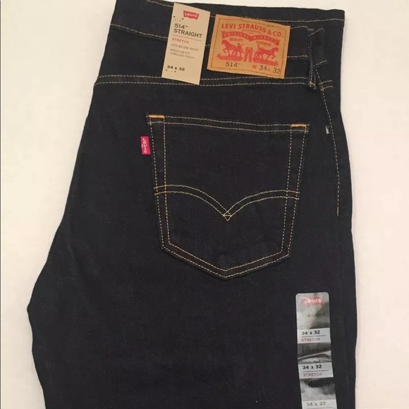 rich and magnificent top-rated exclusive shoes Levi's 514 Straight Fit Stretch Mens Jeans pants NWT